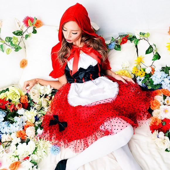 ハロウィン コスプレ 赤ずきんちゃん 赤ずきん レッドフードガール 大人 女性 コスチューム ハロウィーン 女性用 可愛い enteron-kagu-shop 05