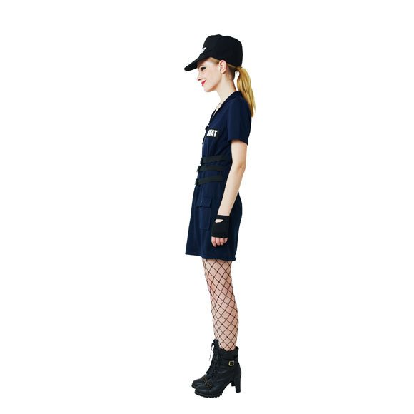 ハロウィン コスプレ ポリス SWAT Ladies スワット 警察 警官 ミニスカポリス コスチューム コスプレ 女性 レディース ハロウィーン 女性用 ポリス enteron-kagu-shop 07