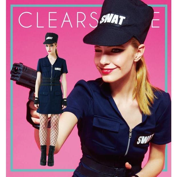 ハロウィン コスプレ ポリス SWAT Ladies スワット 警察 警官 ミニスカポリス コスチューム コスプレ 女性 レディース ハロウィーン 女性用 ポリス enteron-kagu-shop 10