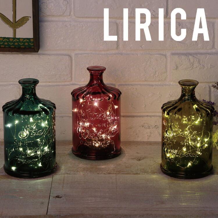 クーポン使用不可 インテリア 照明 LED Bottle Light LIRICA ボトルライト リリカ コードレス おしゃれ ガラス タイマー 間接照明 照明器具 コンパクト|enteron-shop2