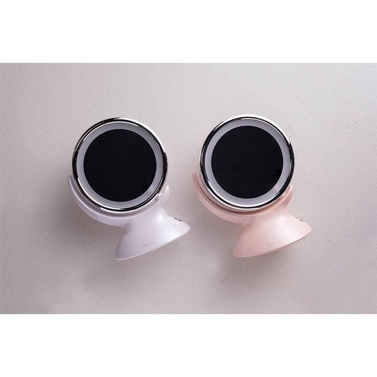 クーポン使用不可 ミラー フェスティノ アラウンド LED ミラー ピンク/ホワイト LEDライト 360度回転 等倍 5倍拡大鏡 かがみ 2way メイク 白昼色 enteron-shop2 06