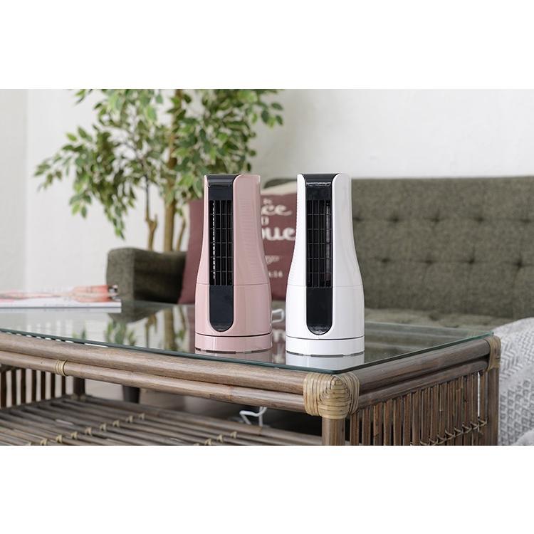 扇風機 タワー型 ミニタワーファン ホワイト/アッシュピンク/TF-T1910 AC電源 オフィス デスク 小型 コンパクト 机 夏 暑さ対策 熱中症対策 スリーアップ|enteron-shop2|06