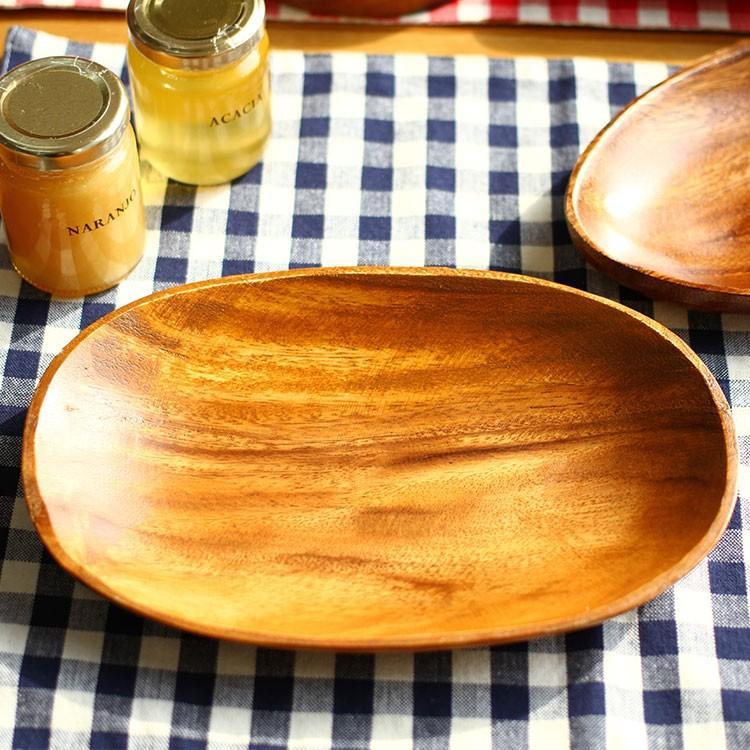 アカシア 木製食器オーバルプレート