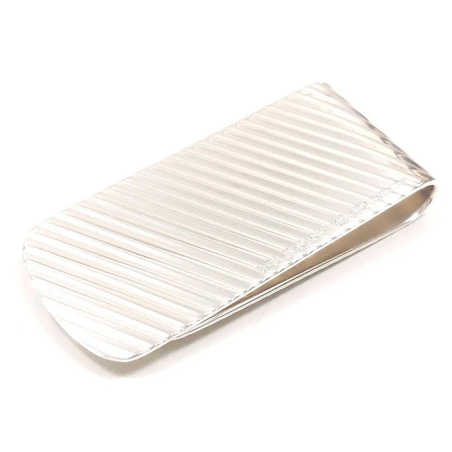 マネークリップ シルバー925 斜めライン イタリア製 ベルフィオーレ 父の日 プレゼント ギフト|entiere