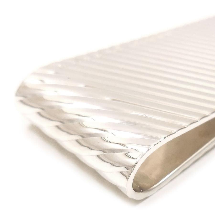 マネークリップ シルバー925 斜めライン イタリア製 ベルフィオーレ 父の日 プレゼント ギフト|entiere|03