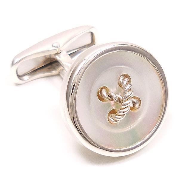 カフスボタン カフリンクス シルバー925 丸型ボタン風 白蝶貝 イタリア製 ベルフィオーレ メンズ 父の日 プレゼント ギフト entiere 02