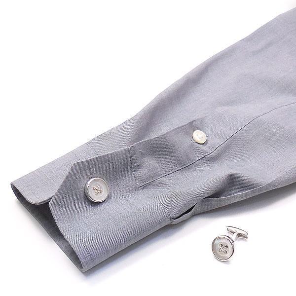 カフスボタン カフリンクス シルバー925 丸型ボタン風 白蝶貝 イタリア製 ベルフィオーレ メンズ 父の日 プレゼント ギフト entiere 06