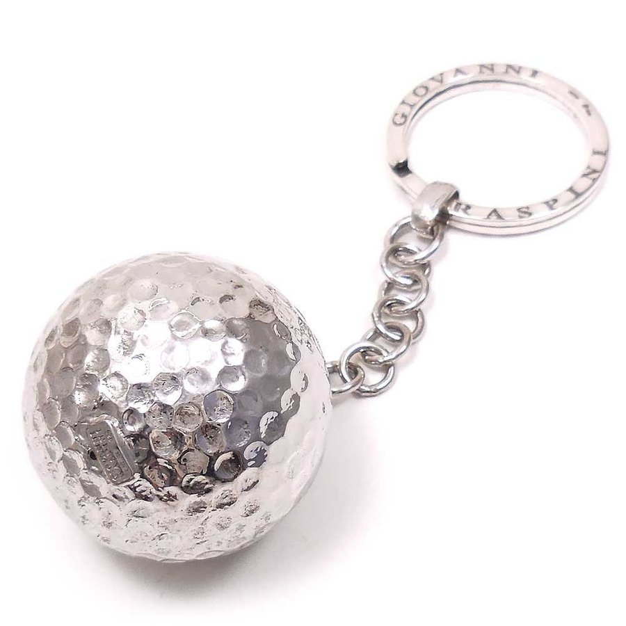 キーホルダー キーリング シルバー925 実物大ゴルフボール イタリア製 ジョバンニ・ラスピーニ メンズ entiere