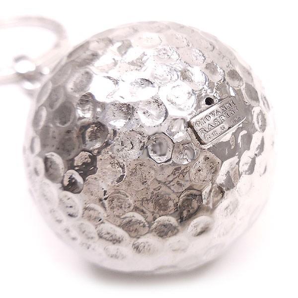 キーホルダー キーリング シルバー925 実物大ゴルフボール イタリア製 ジョバンニ・ラスピーニ メンズ entiere 02