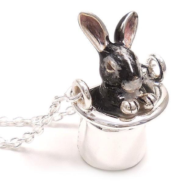 ネックレス ペンダント シルバー925 帽子 ウサギ グレー レディース プレゼント ギフト|entiere|03