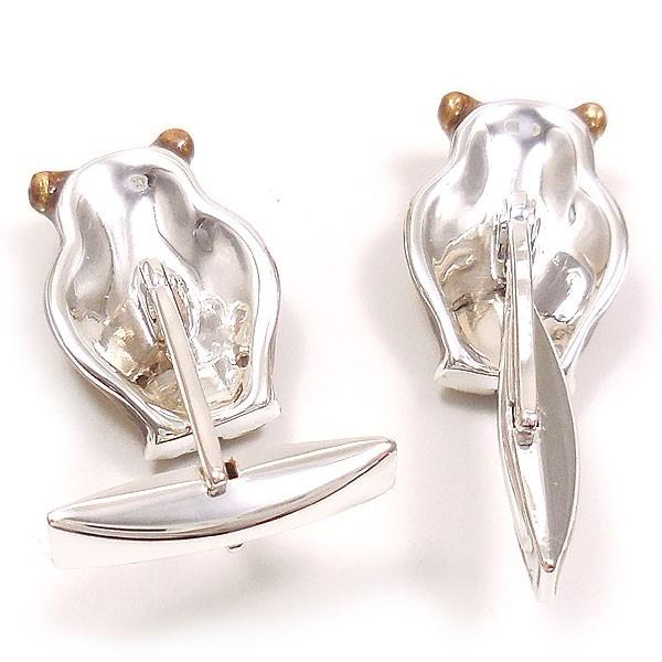 カフスボタン カフリンクス シルバー925 フクロウ イタリア製 サツルノ メンズ 父の日 プレゼント ギフト|entiere|05