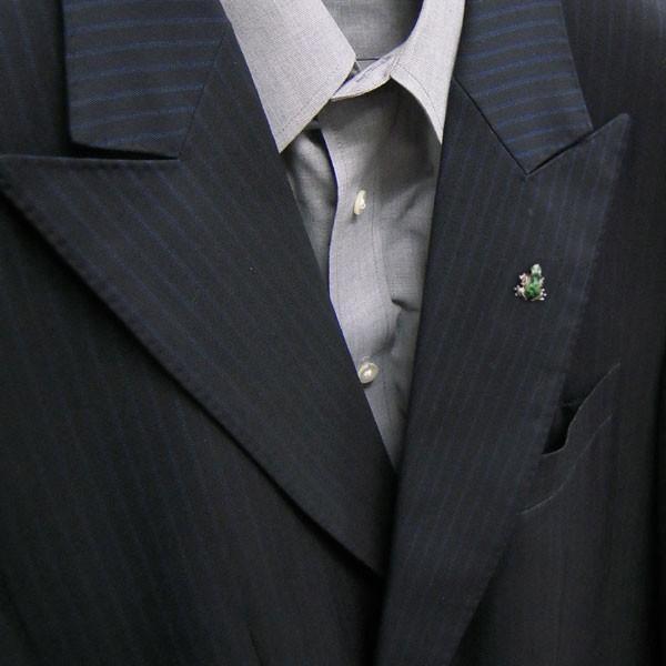 ピンブローチ ラペルピン シルバー925 カエル グリーン イタリア製 サツルノ メンズ レディース 父の日 プレゼント ギフト|entiere|06