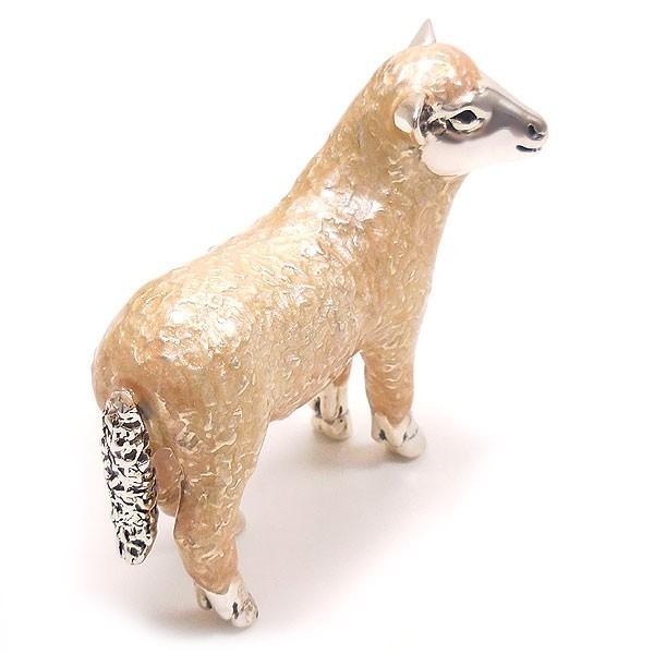 置き物 オブジェ シルバー925 羊 ヒツジ 小 エナメル彩色 イタリア製 サツルノ entiere 03