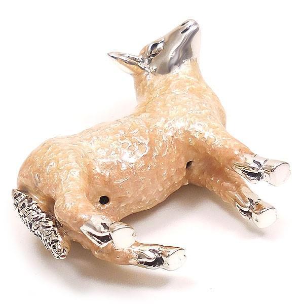 置き物 オブジェ シルバー925 羊 ヒツジ 小 エナメル彩色 イタリア製 サツルノ entiere 06