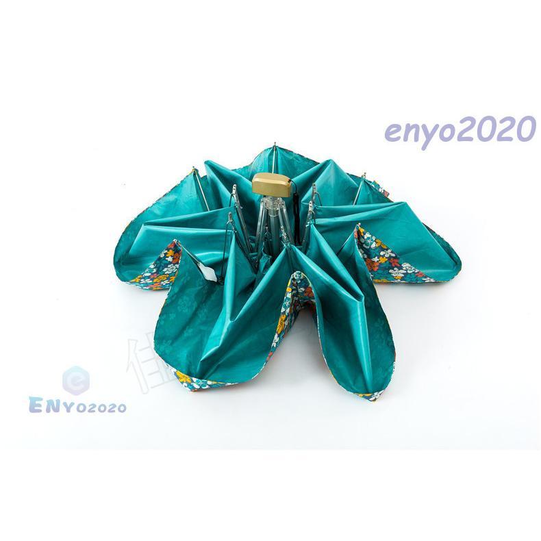 折りたたみ傘 レディース 軽量 UVカット 完全遮光 花柄 レース 姫傘 日傘 晴雨兼用 折り畳み 遮熱 遮光 紫外線 雨傘|enyo2020|11