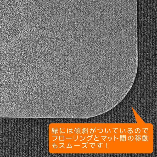 チェアマット(チェアーマット) ハードフロア用 家具 オフィス デザイン おしゃれ 海外 輸入 椅子 ビニール 透明 クリア デスクワーク 床 保護|eoffice|02