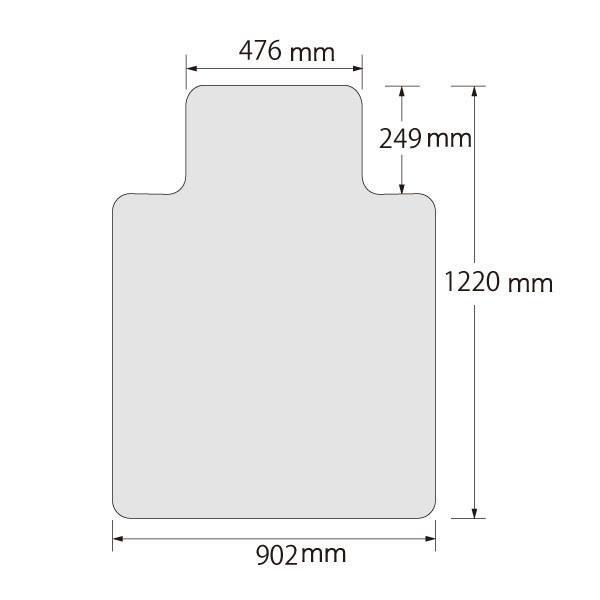チェアマット(チェアーマット) ハードフロア用 家具 オフィス デザイン おしゃれ 海外 輸入 椅子 ビニール 透明 クリア デスクワーク 床 保護|eoffice|04