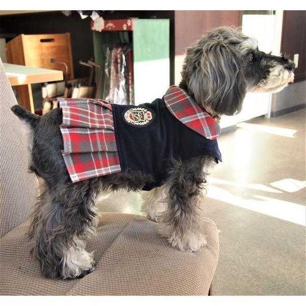 犬服型紙 プリーツワンピースコート 小型犬 小型犬ロング 中型犬用 テキスト付き|epatterncollection|02