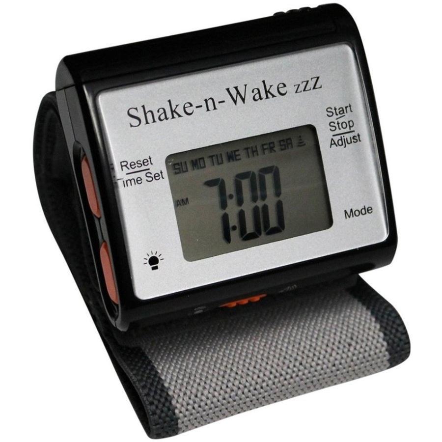 目覚まし時計 起きれる 振動式 再アラーム機能 時報機能 ストップウォッチ機能 バックライト サイレント バイブレーション シェイクンウェイク 消音アラーム|epoca|12