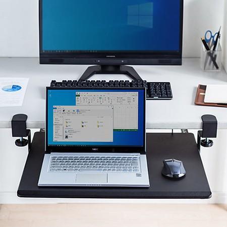 ノートパソコンスライダー 後付け 引き出し 机 キーボードスライダー 幅55cm 在宅勤務 テレワーク|ergs|15