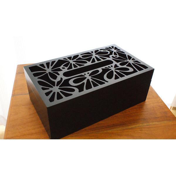 ティッシュケース 木製 おしゃれ 木 アジアン雑貨 バリ ティッシュボックス 北欧 モダン ティッシュケース フラワー|es-style|02