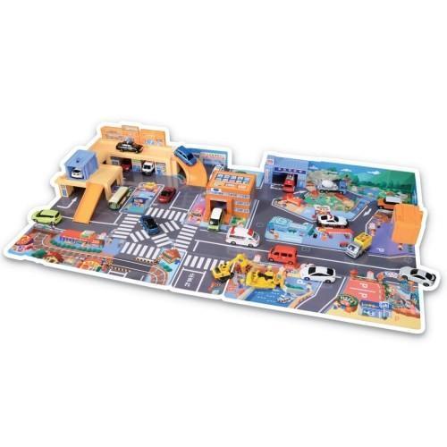 トミカタウン かんたんおかたづけ 海外限定 にぎやかサウンドタウン おもちゃ こども 子供 3歳 完全送料無料 男の子 ミニカー くるま 車