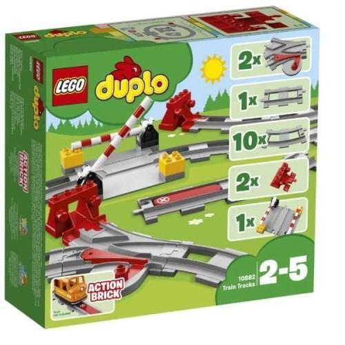 LEGO デュプロ 10882 あそびが広がる 踏切レールセット 売却 おもちゃ 高い素材 ブロック こども 2歳 レゴ 子供