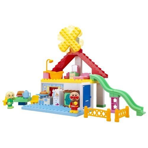 ブロックラボ パン工場とすべり台のおうちブロックバケツ おもちゃ こども 子供 アンパンマン 知育 売店 3歳 公式ショップ 勉強