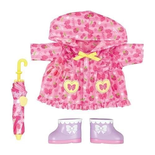 低価格 メルちゃん きせかえセット ピンクのレインコートセットおもちゃ こども 子供 洋服 記念日 人形遊び 女の子 3歳