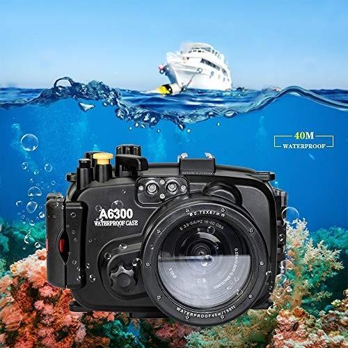 最初の  Sea Frogs 40m 水中撮影用/130ft 水中カメラケース ソニー Sony A6300 防水ケース Sea 国際防水等級IPX8 水中撮影用 国際防水等級IPX8 フィルター付き, ドレス専門店 EAST-QUEEN:25cffc94 --- viewmap.org