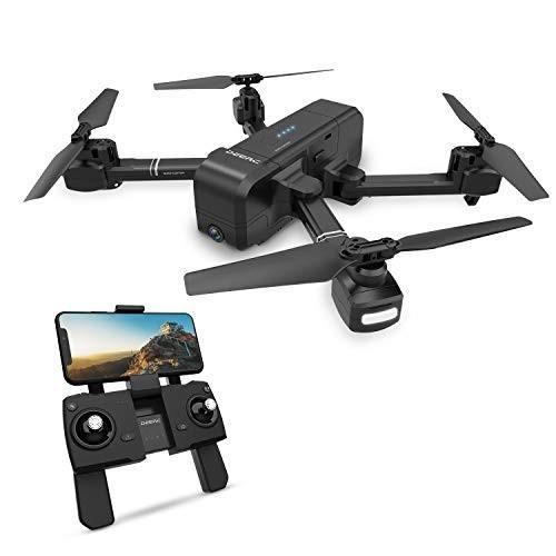 ドローン GPS搭載 折りたたみ式 1080P HDカメラ付き 飛行時間最大15分 飛行距離最大600m 高度維持 生中継 DE25 DEERC