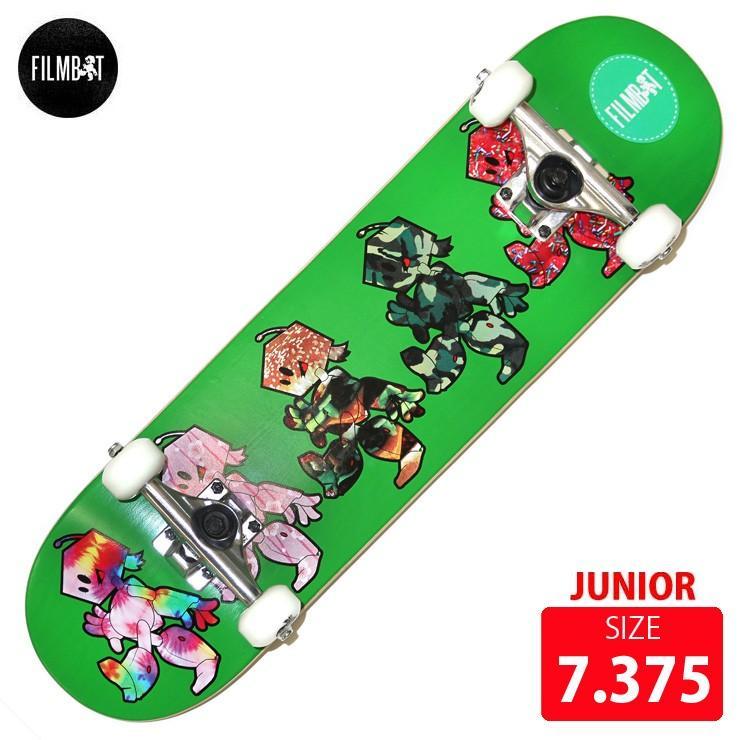 スケートボード コンプリート FILMBOT ジュニア用 DECK 7.375 FBD-003 スケボー 完成品 TOOL付 skateboard