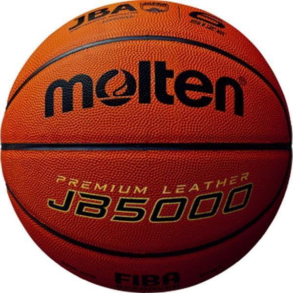 〔モルテン Molten〕 バスケットボール 〔6号球〕 天然皮革 JB5000 B6C5000 〔運動 スポーツ用品〕