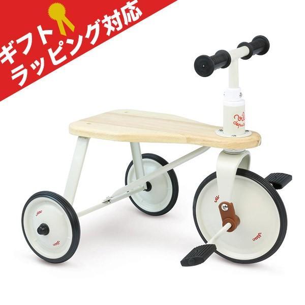 【VILAC】 ヴィラック 三輪車 [ホワイト] 対象年齢 2歳以上 - Metal & wood tricycle -