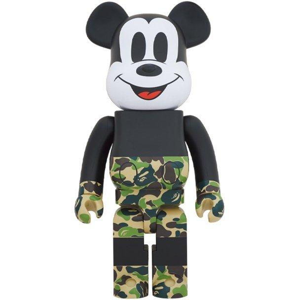 Medicom 1000% Bearbrick A Bathing Ape Bape x Mickey Mouse 緑 /ミッキー エイプ ベイプ メディコムトイ