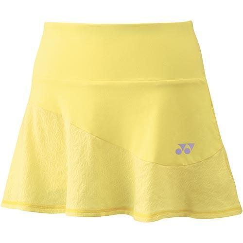 ヨネックス(YONEX) レディース テニスウェア スカート インナースパッツ付 ペールイエロー 26049 370 テニス バドミントン ユニフォーム スコート ボトムス