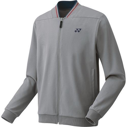ヨネックス(YONEX) メンズ レディース テニス アウター ニットウォームアップシャツ グレー 50075 010 テニスウェア バドミントン 長袖 ジャケット
