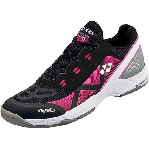 ヨネックス(YONEX) メンズ レディース テニスシューズ パワークッション POWER CUSHION 506 ブラック/ピンク SHT506 181 靴 カーペットコート 部活 試合