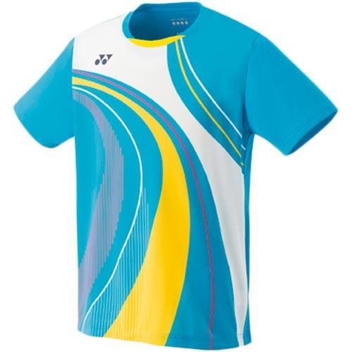 ヨネックス(YONEX) メンズ テニスウェア ゲームシャツ フィットスタイル マリンブルー 10290 035 テニス バドミントン ウェア Tシャツ 半袖 試合着 練習着