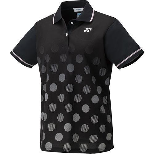 ヨネックス(YONEX) ジュニア テニスウェア ゲームシャツ ブラック 20501J 007 テニス バドミントン 半袖 トップス ユニホーム 練習着 スポーツウェア