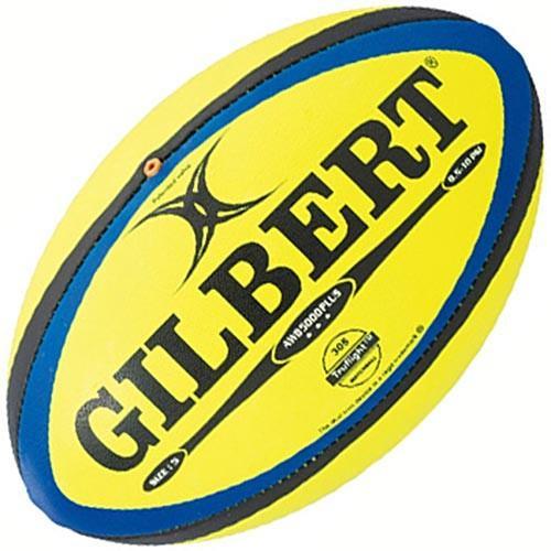 ギルバート(GILBERT) ラグビーボール5号 AWB-5000PLUS GB9185 蛍光イエロー 日本ラグビーフットボール協会 公認球 試合球 売れ筋No.1