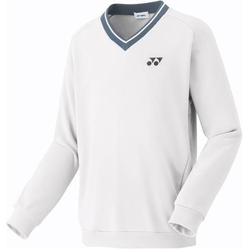 ヨネックス(YONEX) メンズ レディース テニス 厚手 トレーナー ホワイト 32026 011 テニスウェア バドミントンウェア スポーツウェア トレーニングウェア