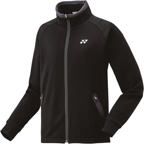 ヨネックス(YONEX) レディース テニス ニット ウォームアップ シャツ ブラック 58084 007 テニスウェア バドミントンウェア スポーツウェア 長袖