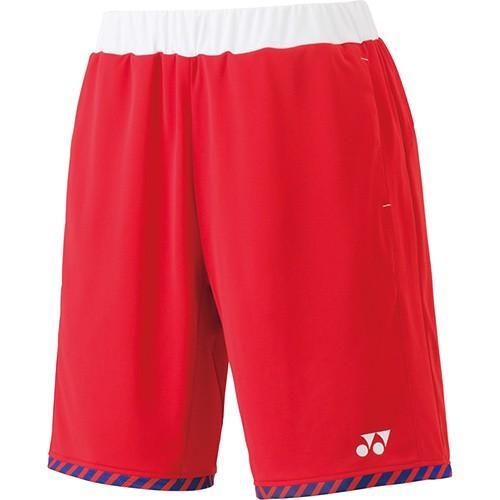 ヨネックス(YONEX) メンズ レディース テニスウェア ニットハーフパンツ サンセットレッド 15065 496 テニス バドミントン 短パン ショートパンツ