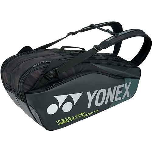 ヨネックス(YONEX) ラケットバッグ6(リュック付) ブラック BAG1802R 007 テニスバッグ リュック スポーツバッグ 6本用