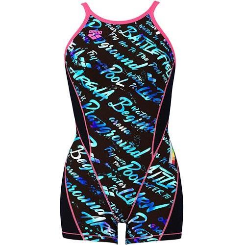 アリーナ(arena) レディース 競泳水着 タフミドルスパッツS ミドルボックス ブラック・ブルー FSA-9622W BKBU 練習用 女性用競泳水着 トレーニング 水着