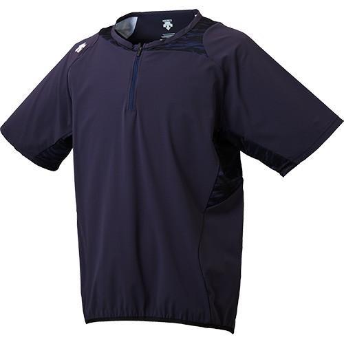 デサント(DESCENTE) メンズ 野球 ハイブリッド シャツ Sネイビー DBMLJC31 SNVY ベースボール トレーニングウェア Tシャツ 半袖