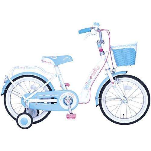 子供用自転車 18型 ミウミウ ブルー 18MIUMIU ジュニア キッズ こども用 自転車 女の子 18インチ 補助輪付