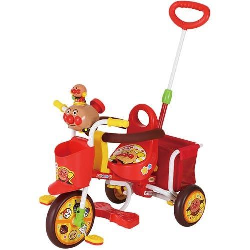 エムアンドエム(M&M) おでかけ三輪車 それいけ!アンパンマンごうピースII レッド 0216 三輪車 サイクル ベビー キッズ 乗り物 子供