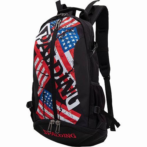 スポルディング(SPALDING) バスケットボール バックパック ケイジャー スター&ストライプス レッド 40-007SS バスケ バッグ リュックサック ボールバッグ 鞄